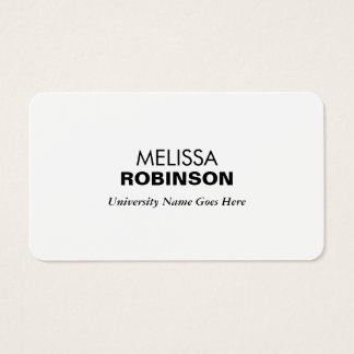 Simple and Modern Graduate Student University Business Card