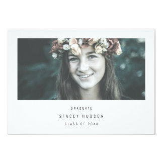 Simple and modern graduation invitation