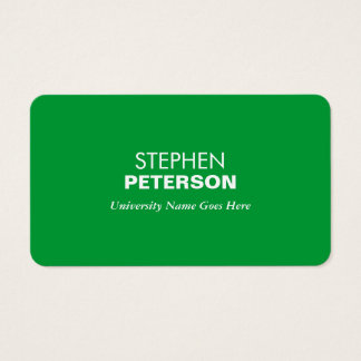 Simple and Modern Green Graduate Student Business Card