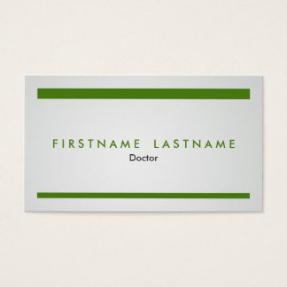 Simple and Modern Medical Profession Business Card