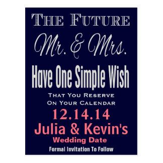 Simple and Modern Save The Date Postcard