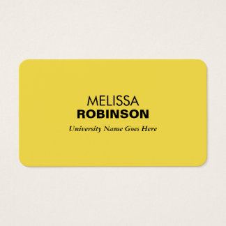 Simple and Modern Yellow Graduate Student Business Card