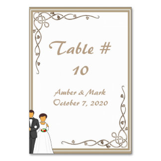 Simple and Romantic Wedding Card