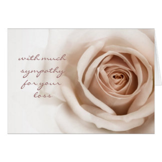 Simple and Sincere Sympathy Card