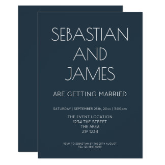 Simple And Stylish Dark Blue With White Type Card
