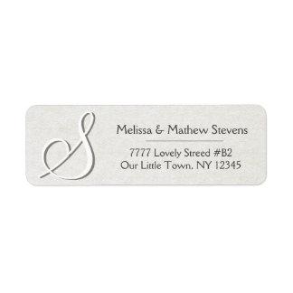 Simple and Sweet Monogram Return Address Label