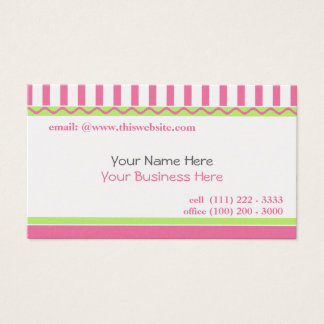 Simple and Sweet/ Pink Business Card