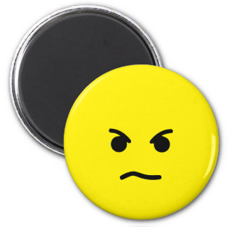 Simple Angry Yellow Face Magnet