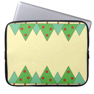 Simple animated Christmas trees Laptop Sleeve