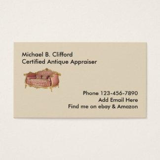 Simple Antiques Appraiser Business Card