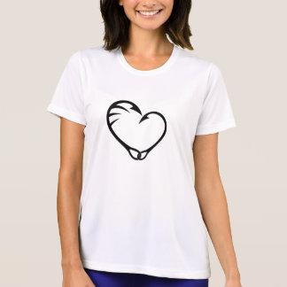 Simple Art Heart Hook Fishing T-Shirt
