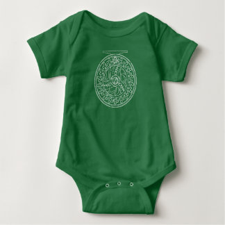 Simple Art of a Fly Fishing Reel Baby Bodysuit