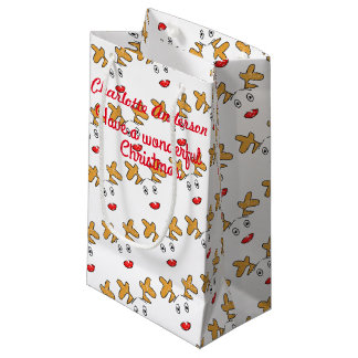 Simple artwork inspired Rudolph red nosed reindeer Small Gift Bag