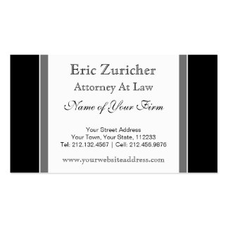 Simple Attorney at Law Business Card Template