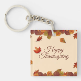 Simple Autumn Leaves Thanksgiving | Keychain