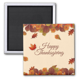 Simple Autumn Leaves Thanksgiving | Magnet