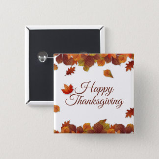 Simple Autumn Leaves Thanksgiving | Pin Button