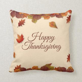 Simple Autumn Leaves Thanksgiving | Throw Pillow
