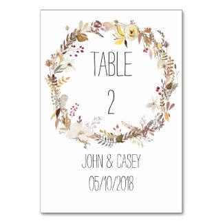 """Simple Autumn Wreath Vertical 3.5"""" x 5"""" Tablecard Card"""