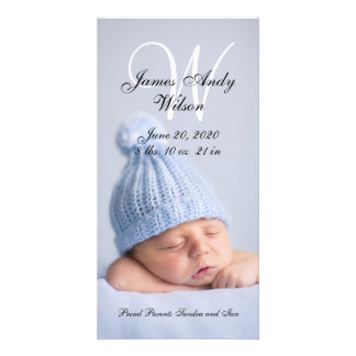 Simple Baby Birth Announcement Photo Card