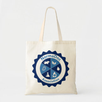 Simple bag in fabric - Blue NormaDoc Logo