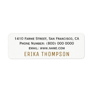simple basic clear return address label