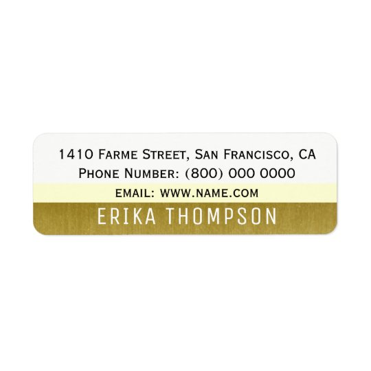 simple basic modern address label with stripes