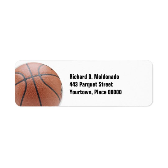 Simple Basketball Return Address Label