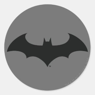 Simple Bat Silhouette Round Sticker