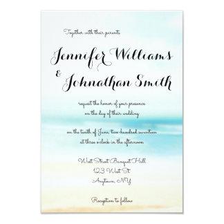 Simple beach destination wedding invitations