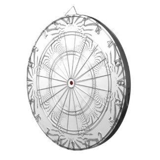 Simple Beautiful amazing soft white pattern design Dartboard