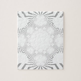Simple Beautiful amazing soft white pattern design Jigsaw Puzzle