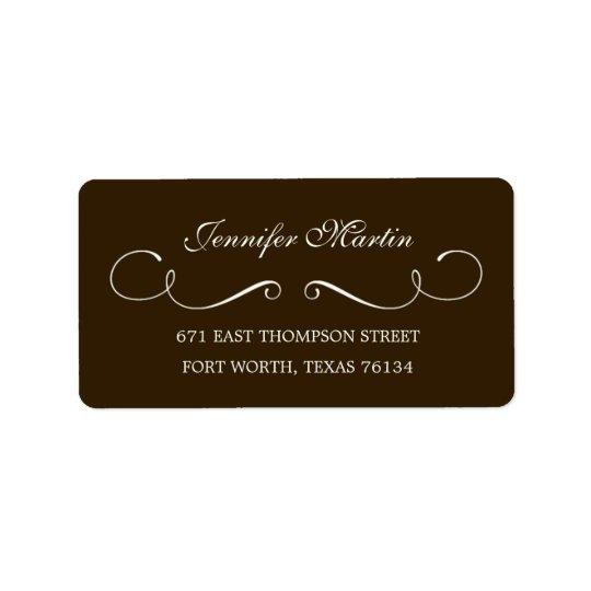 Simple Beauty Address Label (Grey)