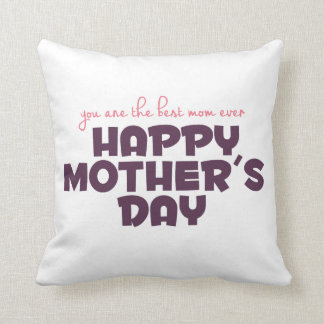 Simple Best Mom Ever Mother's Day | Throw Pillow