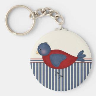 Simple Bird Basic Round Button Keychain