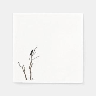 Simple Bird on a Branch | Napkin Disposable Napkins