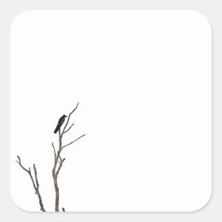 Simple Bird on a Branch Sticker Seal