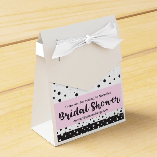 Simple Black and White, Bridal Shower Favor Box