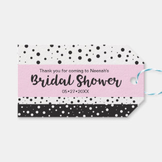 Simple Black and White, Bridal Shower Pack Of Gift Tags