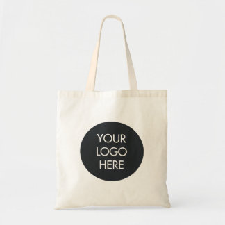 Simple Black and White Business Logo Bag