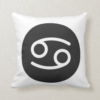 Simple Black and White Cancer Pillow. Throw Pillow
