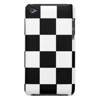 simple black and white checkered pattern barely there iPod cases
