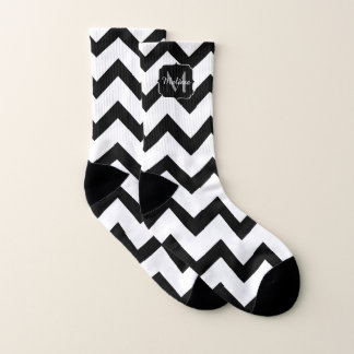 Simple Black and white Chevron pattern Monogram 1