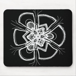Simple Black and White Lace Mandala Mousepad