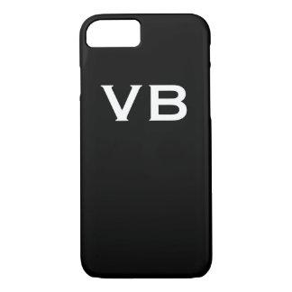 Simple Black and White Monogram Initials Case-Mate iPhone Case