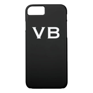 Simple Black and White Monogram Initials iPhone 8/7 Case
