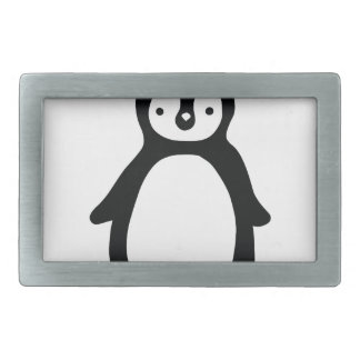Simple black and white pinguin belt buckles