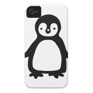 Simple black and white pinguin Case-Mate iPhone 4 case
