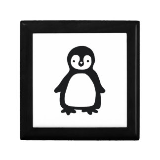 Simple black and white pinguin gift box