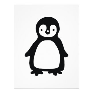 Simple black and white pinguin letterhead